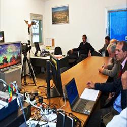 Dimostrazione di UAS (Unmanned Aerial Systems) un sistema integrato di velivoli a pilotaggio remoto per applicazioni di tipo civile