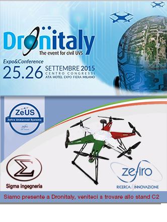 Zefiro e Sigma Ingegneria a Dronitaly