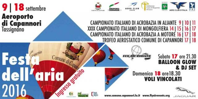 Festa dell'aria – Fly Air Events 2016
